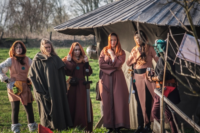 Photo by Višen Tadić, costumes by respected members of the Dibella priesthood ingame group (The Elder Scrolls Chronicles: Tradehouse, Croatia, 2014)